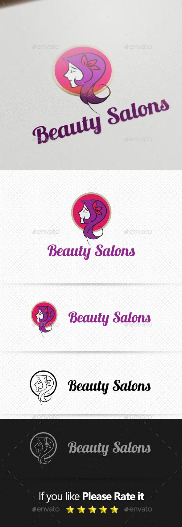 Beauty Salons Logo Template