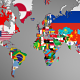 Political Map of the World with Flags - 3DOcean Item for Sale