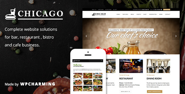 Chicago - Restaurant & Cafe WordPress Theme
