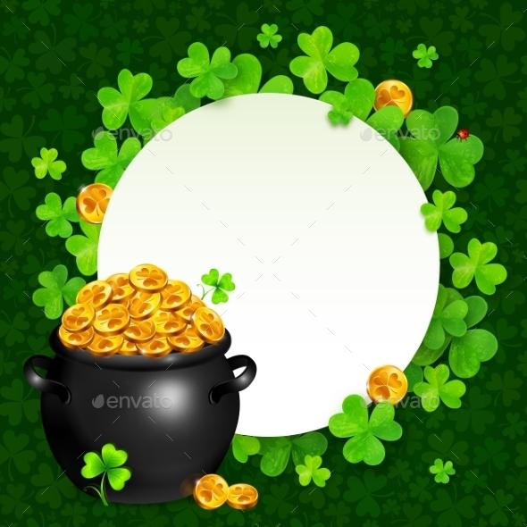 Black Pot of Magic Gold on Clovers Circle