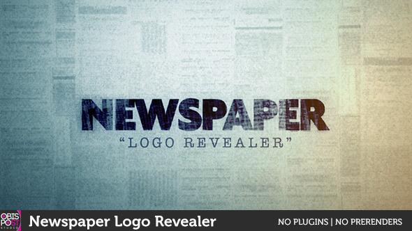 Newspaper Logo Reveal