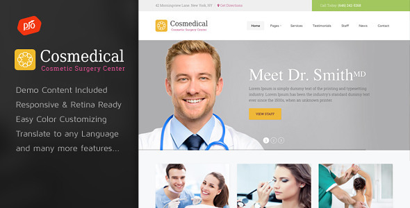 Cosmedical - Health & Medical WordPress Theme