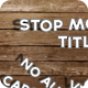 Stop Motion Title - VideoHive Item for Sale