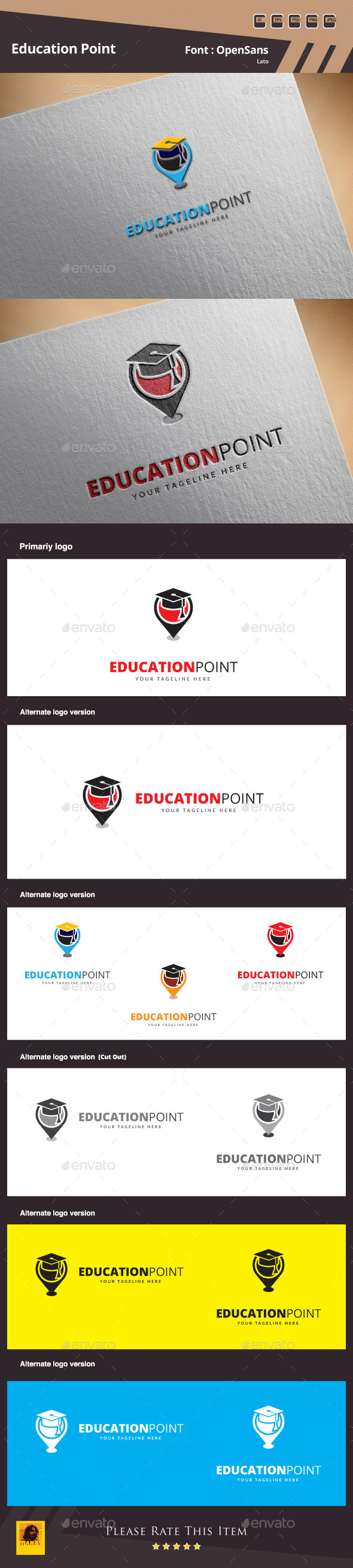 Education Point Logo Template