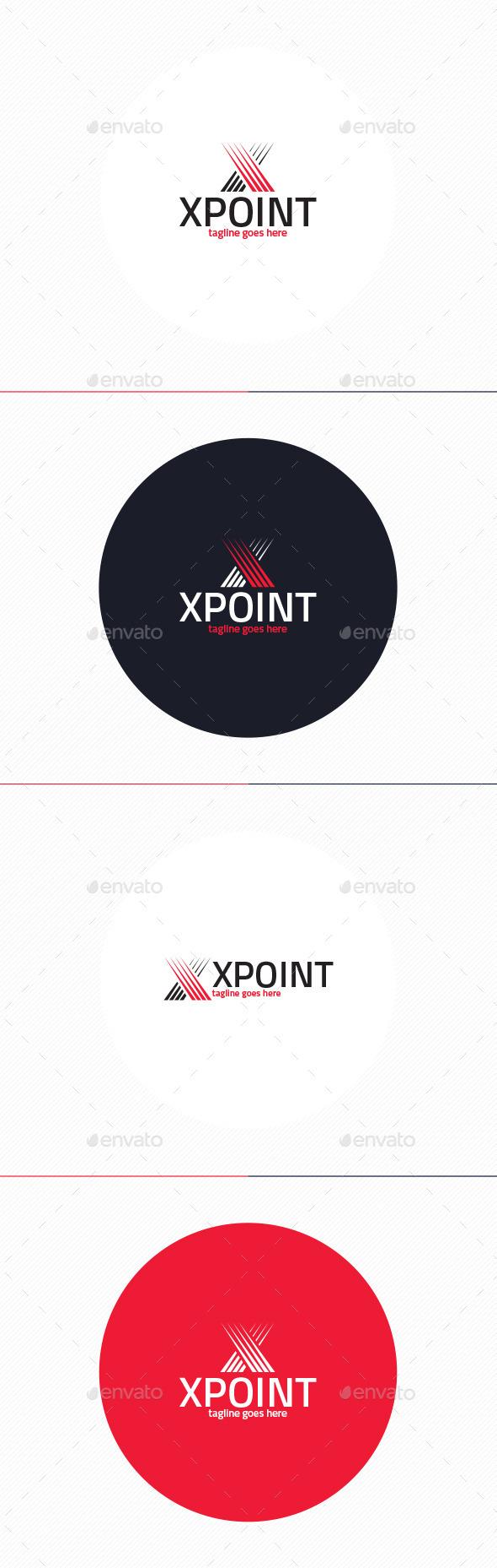 X Point Logo • Letter X