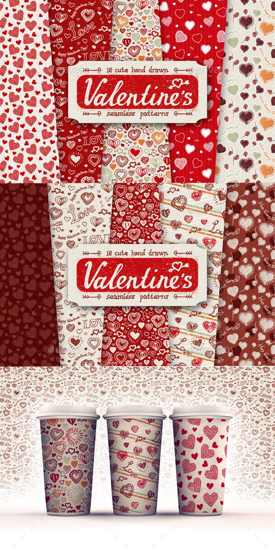 10 Valentines Day Patterns