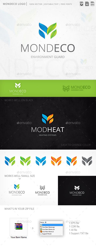 Mondeco Letter M Logo Template
