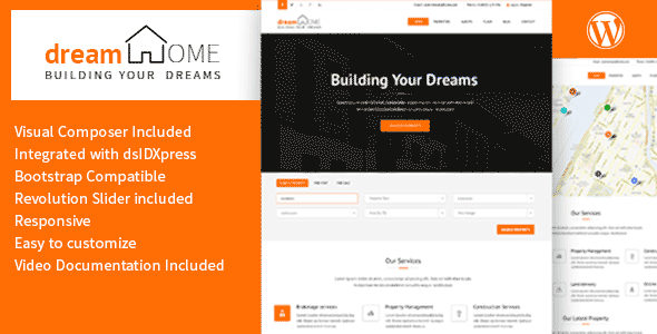 Dream Home - Real Estate WordPress Theme