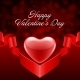 Heart Gift Valentine's Day Background - GraphicRiver Item for Sale