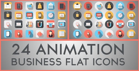 Flat Icon After Effects Templates from VideoHive