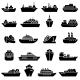 Ship and Boat Icon Set - GraphicRiver Item for Sale