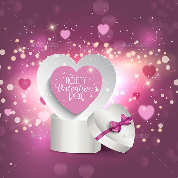 Valentine's Gift Box Background