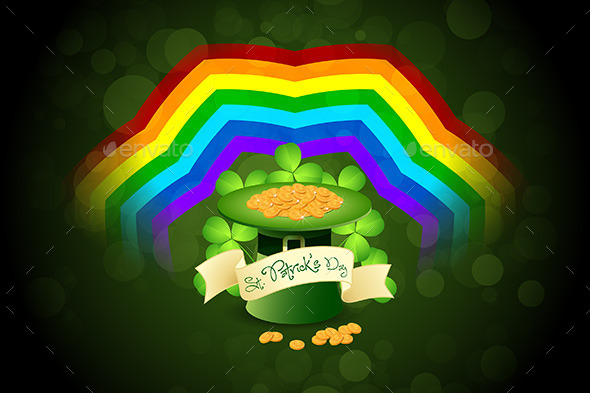 Patrick's Day Card with Leprechaun Hat
