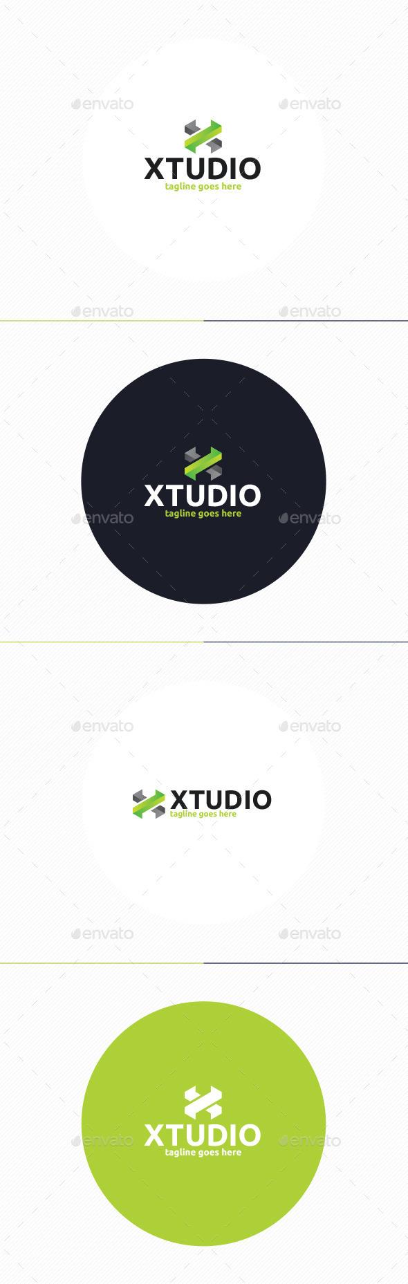 X Studio Logo • Letter X