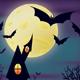 Night Halloween Scene - GraphicRiver Item for Sale