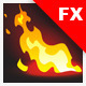 Fire Effects on a Dark Background with Glow - GraphicRiver Item for Sale