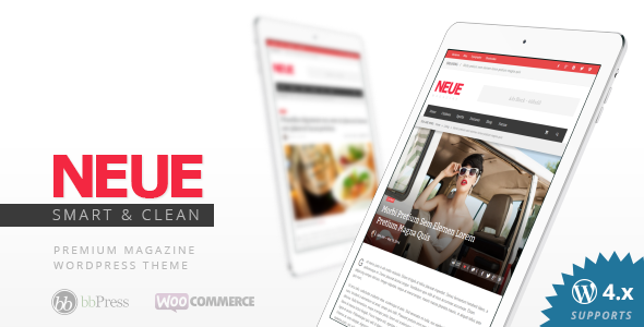 NEUE - Smart & Modern Magazine Theme