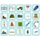 Vacation, Recreation & Travel, icons set - GraphicRiver Item for Sale