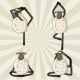Yoga Sheep Standing in Different Poses - GraphicRiver Item for Sale