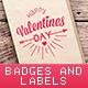 14 Valentine's Day Vintage Badges and Labels - GraphicRiver Item for Sale