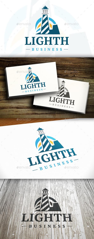 Lighthouse L Letter Logo