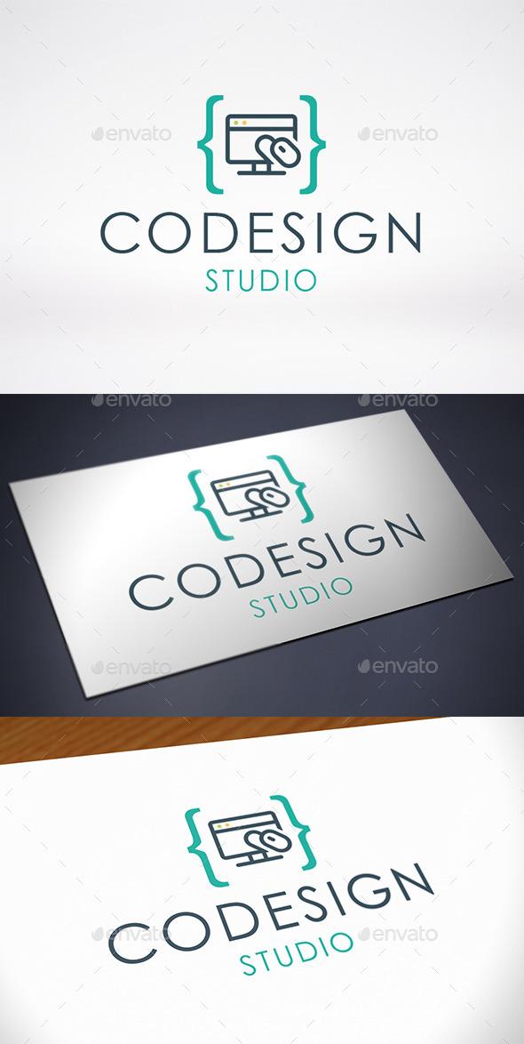 Code Design Identity Logo Template