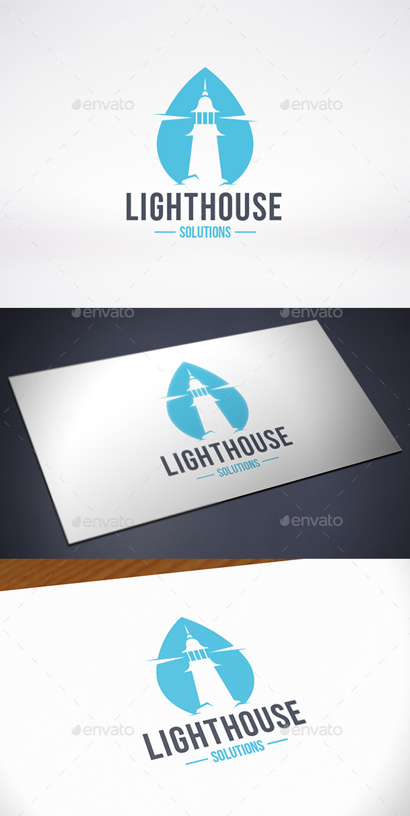 Lighthouse Water Logo Template
