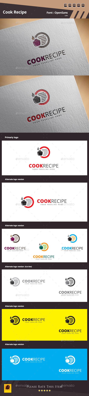 Cook Recipe Logo Template