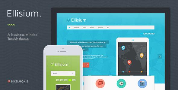 Ellisium - A Business Minded Tumblr Theme