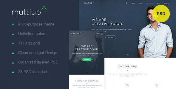 MultiUp — Multi-Purpose Business PSD