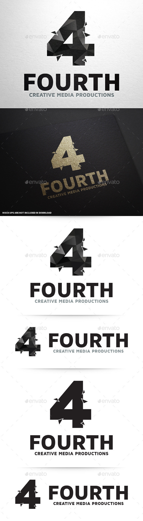 Number Four Logo Template