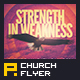 Strength in Weakness Church Flyer Template - GraphicRiver Item for Sale