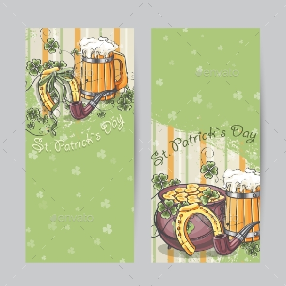 Set of Vertical Banners for St. Patrick's Day