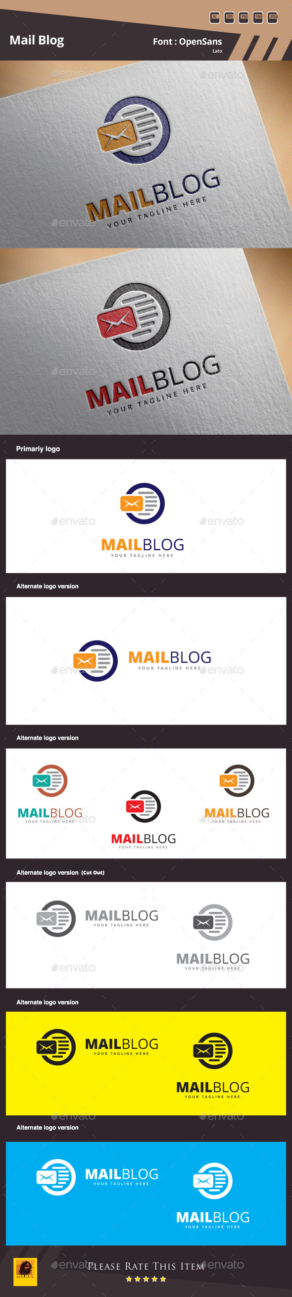 Mail Blog Logo Template