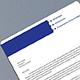 Blue Letterhead Design - GraphicRiver Item for Sale