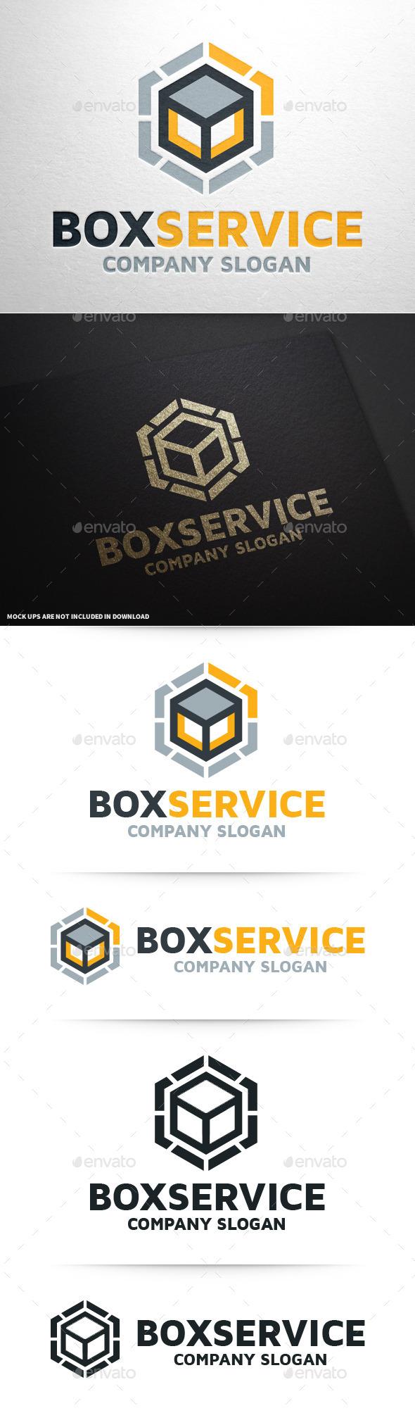 Box Service Logo Template