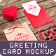 Love Greeting Card Mock-up - GraphicRiver Item for Sale