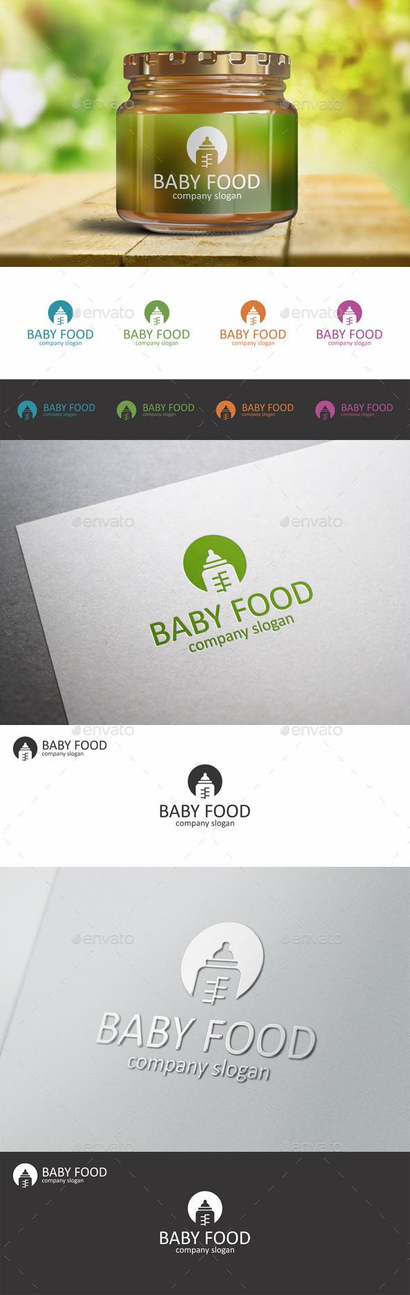 Baby Food Child Bottle Logo