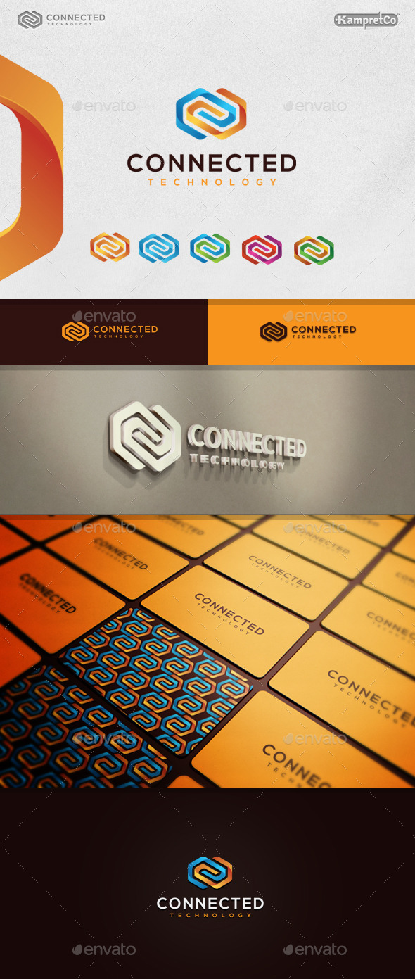 3D Connected Logo