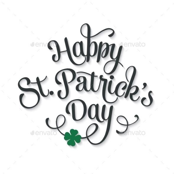 Typographic Saint Patrick's Day Greeting Card