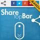 Social Share top Bar AddOn - WordPress - CodeCanyon Item for Sale