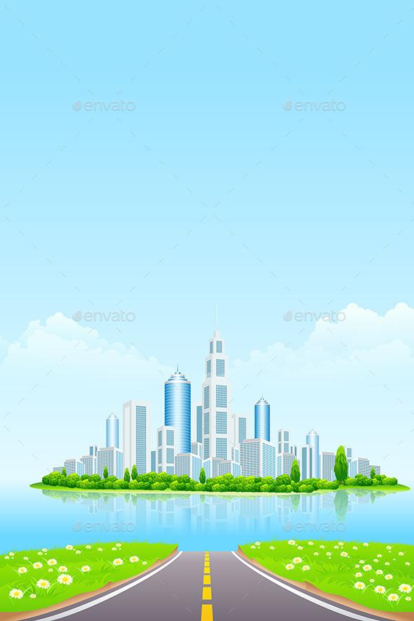 Business City on Island