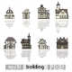 Set of Pixel Art Buildings - GraphicRiver Item for Sale