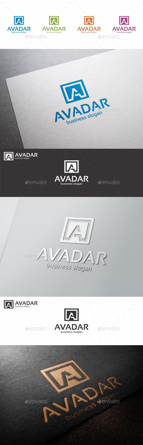 A Letter Logo Shape - Avadar