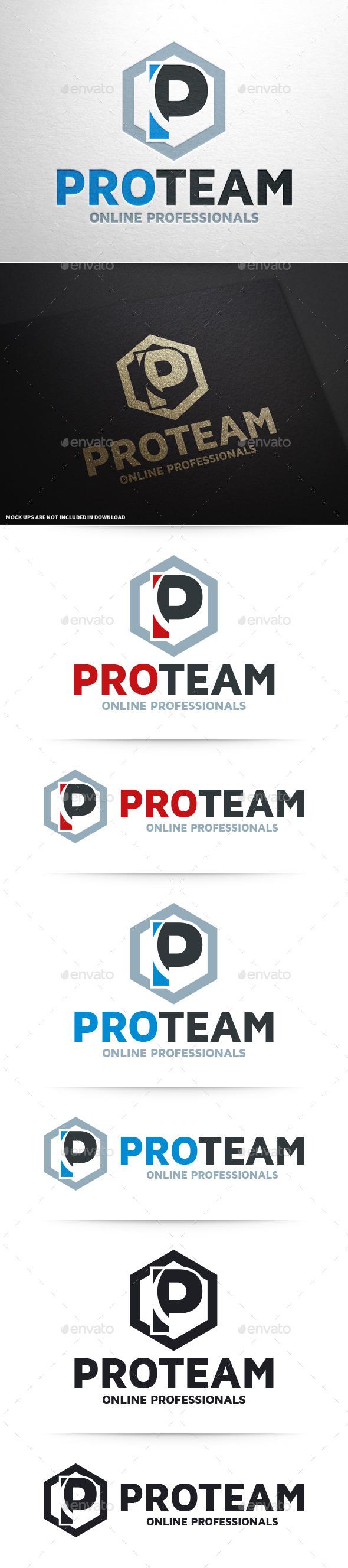 Pro Team - Letter P Logo