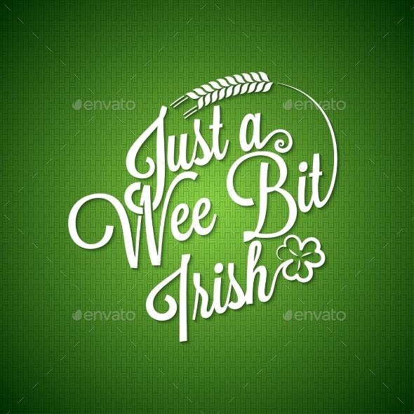 Patrick Day Vintage Irish Background