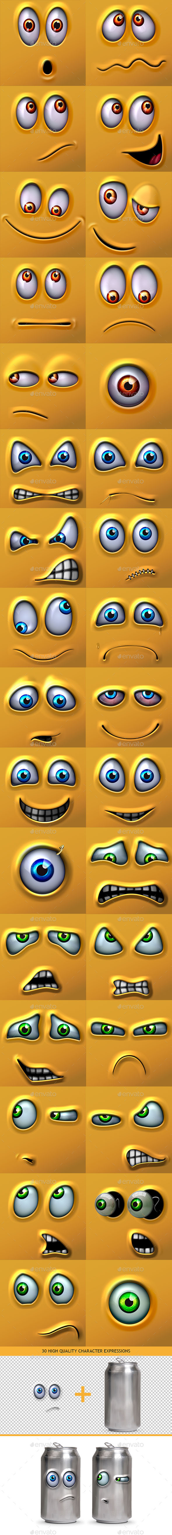 Character Expressions Bundle