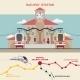Railway Station Illustration - GraphicRiver Item for Sale
