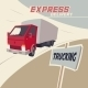 Truck Express Delivery - GraphicRiver Item for Sale