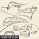 Transport Outline Icons - GraphicRiver Item for Sale